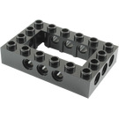 LEGO Black Technic Brick 4 x 6 with Open Center 2 x 4 (32531)