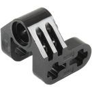 LEGO Black Technic Cross Block 2 x 2 x 2 Bent 90 Split (Pin/Twin Axle) (92907)