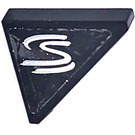 LEGO Black Tile 2 x 2 Triangular with 'S' Right Sticker