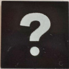 LEGO Black Tile 2 x 2 with Question Mark with Groove (87540)
