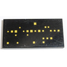 LEGO Black Tile 2 x 4 with Yellow Squares, Type 1 Sticker
