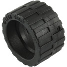 LEGO Black Tire 24 x 14 Shallow Tread (Tread Small Hub) with Band around Center of Tread (24341 / 89201)