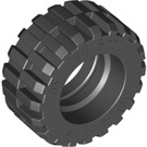 LEGO Black Tire 30.4 x 14 with Offset Tread Pattern and No band (30391)