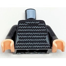LEGO Noir Torso with Horizontal Squiggly Lines Dress Print