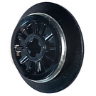 LEGO Black Train Wheel with Axle Hole and Friction Band (55423 / 57999)