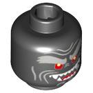 LEGO Black Volcano garmadon Plain Head (Recessed Solid Stud) (34701)