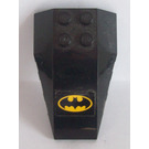 LEGO Black Wedge 6 x 4 Triple Curved with Batman Logo Sticker