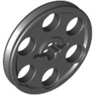 LEGO Black Wedge Belt Wheel (4185)