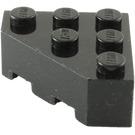 LEGO Black Wedge Brick 3 x 3 without Corner (30505)