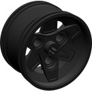 LEGO Black Wheel 43.2mm D. x 26mm Technic Racing Small with 3 Pinholes (41896)
