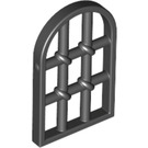 LEGO Black Window 1 x 2 x 2.667 Pane Twisted Bar with Rounded Top (30045)
