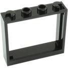 LEGO Black Window 1 x 4 x 3 (60594)