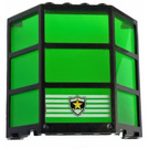 LEGO Black Window Bay 3 x 8 x 6 Assembly with Police Badge Decoration