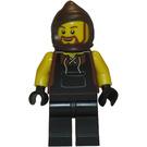 LEGO Blacksmith with Beard and Dark Brown Farmer's Cowl Minifigure