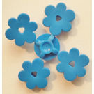 LEGO Blue 4 Flower Heads on Sprue (3742)