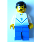 "LEGO Blue and White Football Player with ""9"" Minifigure"