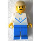 LEGO Blue and White Team Player with Number 10 on Front and Back Minifigure