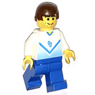 LEGO Blue and White Team Player with Number 4 on Front and Back Minifigure