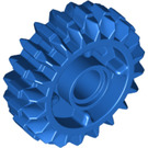 LEGO Blue Angled Gear Wheel Z20 with 4.85 Hole (35185)