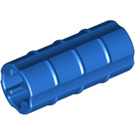 LEGO Blue Axle Connector (Ridged with 'x' Hole) (6538)