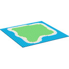 LEGO Blue Baseplate 32 x 32 with Decoration