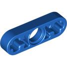 LEGO Blue Beam 3 x 0.5 with Axle Hole each end (6632)