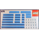 LEGO Blue Beams with Connector Pegs Set 876