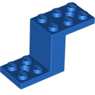 LEGO Blue Bracket 2 x 5 x 2.33 and Inside Stud Holder (28964 / 76766)