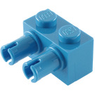 LEGO Blue Brick 1 x 2 with 2 Pins (30526)