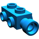 LEGO Blue Brick 1 x 2 x 0.667 with Studs on Sides (4595)