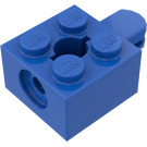 LEGO Blue Brick 2 x 2 Arm Holder with Hole and 1 Arm (Complete)