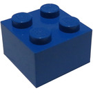 LEGO Blue Brick 2 x 2 (Earlier, without Cross Supports)