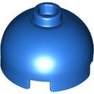 LEGO Blau Backstein 2 x 2 Runden mit Dome oben (Hohlbolzen mit unterem Achshalter x Form + Ausrichtung) (30367)