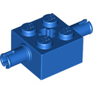 LEGO Blue Brick 2 x 2 with Pins and Axlehole (30000)