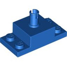 LEGO Blue Brick 2 x 2 with Vertical Pin and 1 x 2 Side Plates (30592)