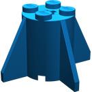 LEGO Blue Brick 2 x 2 x 2 Round with Fins