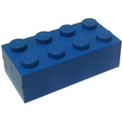 LEGO Blue Brick 2 x 4 (Earlier, without Cross Supports)
