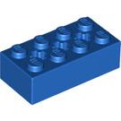 LEGO Blue Brick 2 x 4 with Cross Hole (39789)