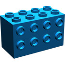 LEGO Blue Brick 2 x 4 x 2 with Studs on Sides (2434)