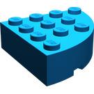 LEGO Blue Brick 4 x 4 Corner Round (2577)