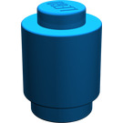 LEGO Blue Brick Round 1 x 1 with Solid Stud (3062)