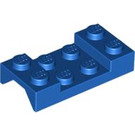 LEGO Blue Car Mudguard 2 x 4 without Hole (3788)