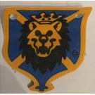 LEGO Blue Cloth Hanging 4 x 5 with Knights Kingdom Lion Head Pattern