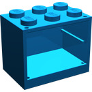 LEGO Blue Cupboard 2 x 3 x 2 with Solid Studs (4532)