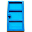 LEGO Blue Door 1 x 4 x 6 with 3 Panes with TrBlue Glass
