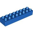 LEGO Blue Duplo Brick 2 x 8 (4199)