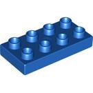 LEGO Blue Duplo Plate 2 x 4 (4538 / 40666)