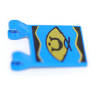 LEGO Blue Flag 2 x 2 with Decoration