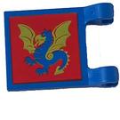 LEGO Blue Flag 2 x 2 with Dragon Decoration