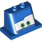 LEGO Blue Front 2 x 4 x 3 with 2 Knobs (72145)